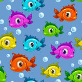 Seamless pattern with fishes Royalty Free Stock Image