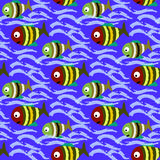 Seamless pattern fishes Stock Photo