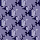 Seamless pattern with fishes. EPS 10 Royalty Free Stock Photo