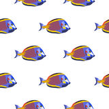 Seamless pattern with fishes Stock Photography