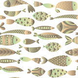 Seamless pattern with fishes. Stock Photos