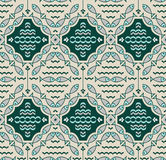 Seamless pattern with fishes. And rhombus plates Royalty Free Stock Image