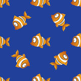 Seamless pattern fishes. vector background Stock Photo
