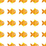 Seamless pattern fishes. vector background Royalty Free Stock Image