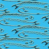 Seamless pattern from fishes Royalty Free Stock Images
