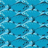 Seamless pattern from fishes Royalty Free Stock Photography