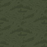 Seamless pattern for fishing   fish,fishman,lure,rod a. Seamless pattern for fishing theme. With fish,fishman,lure,rod and tree. Vector illustration Royalty Free Stock Images