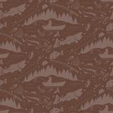 Seamless pattern for fishing theme.  Royalty Free Stock Photos