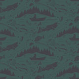 Seamless pattern for fishing theme.  Royalty Free Stock Photography