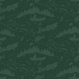 Seamless pattern for fishing theme.  fish,fishman,lure,rod a. Seamless pattern for fishing theme. With fish,fishman,lure,rod and tree. Vector illustration Royalty Free Stock Photography