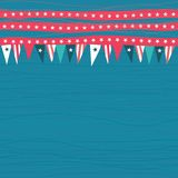 Seamless pattern with flags with american colors Stock Photo