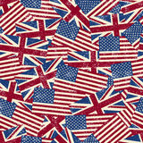 Seamless pattern with flags. Vector illustration Royalty Free Stock Photography