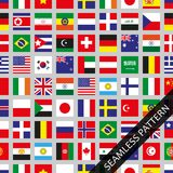 Seamless pattern with flags of the world, flat design. Vector illustration Stock Images