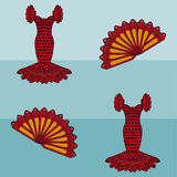 Seamless pattern flamenco style stock photos