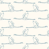 Seamless pattern with flamingo 1 Stock Photos