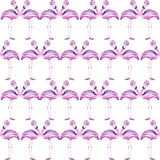 Seamless pattern with a flamingo Royalty Free Stock Image