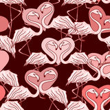 Seamless pattern of flamingos Stock Photography