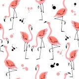 Seamless pattern with flamingos. Summer motifs. Vector. Seamless pattern with flamingos. Summer motifs. Vector stock illustration