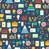 Seamless pattern of flat colorful business and Stock Photo