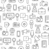 Seamless pattern of of flat colorful vector. Seamless pattern of of flat vector journalism icons vector illustration