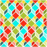 Seamless pattern with flat cubes. Abstract background in bright colors. Pattern with flat cubes. Abstract background in bright colors. Vector illustration. A Stock Illustration