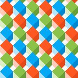 Seamless pattern with flat cubes. Abstract background in bright colors. Vector illustration. A good choice for the background decoration, website, flyers Vector Illustration