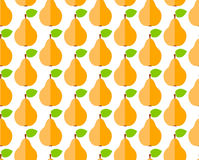 Seamless pattern with flat cute pear Royalty Free Stock Photo