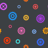 Seamless pattern with flat gears. Simple technical background. Vector illustration Royalty Free Stock Image