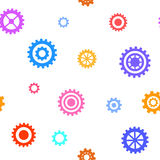 Seamless pattern with flat gears. Simple technical background. Vector illustration Stock Image