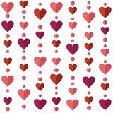 Seamless pattern with flat hearts Royalty Free Stock Photo