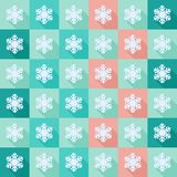 Seamless pattern with flat snowflakes. Seamless background with snowflakes flat icons with long shadow royalty free illustration