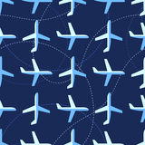 Seamless pattern with flat styled planes Stock Images