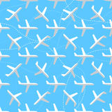 Seamless pattern with flat styled planes Stock Image