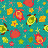 Seamless pattern with flat travel icons Royalty Free Stock Photography
