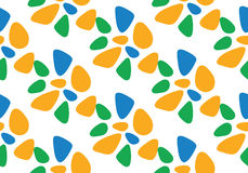 Seamless Pattern Flat Vector Illustration. Blue, Orange, Green Colors Royalty Free Stock Image
