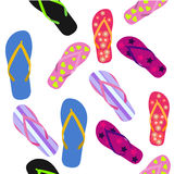 Seamless pattern with flip flops. Summer background. Seamless pattern with flip flops. Vector illustration of Summer background Royalty Free Stock Photo