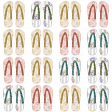Seamless pattern with flip flopson white Royalty Free Stock Photos