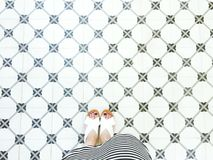 Seamless pattern floor with woman legs Stock Images
