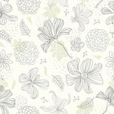 Seamless pattern floral background Royalty Free Stock Images