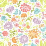 Seamless pattern with floral background Stock Image