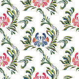 Seamless pattern with floral background. Vector floral pattern. Royalty Free Stock Photo
