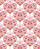 Seamless pattern with floral colorful hearts Royalty Free Stock Images