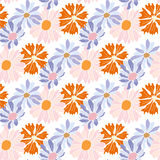 Seamless pattern with floral design. Decorative background with floral design Stock Photos