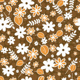 Seamless pattern with floral elements Stock Photos