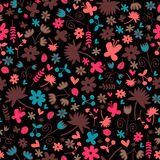 Seamless pattern with floral elements Royalty Free Stock Image