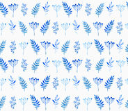Seamless pattern of floral elements. Stock Photo