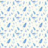 Seamless pattern of floral elements. Stock Image