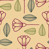 Seamless pattern with floral elements Royalty Free Stock Images