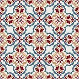Seamless pattern with floral elements. Royalty Free Stock Image