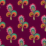 Seamless pattern with floral elements Stock Photography
